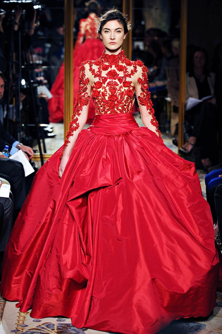 Marchesa red gown