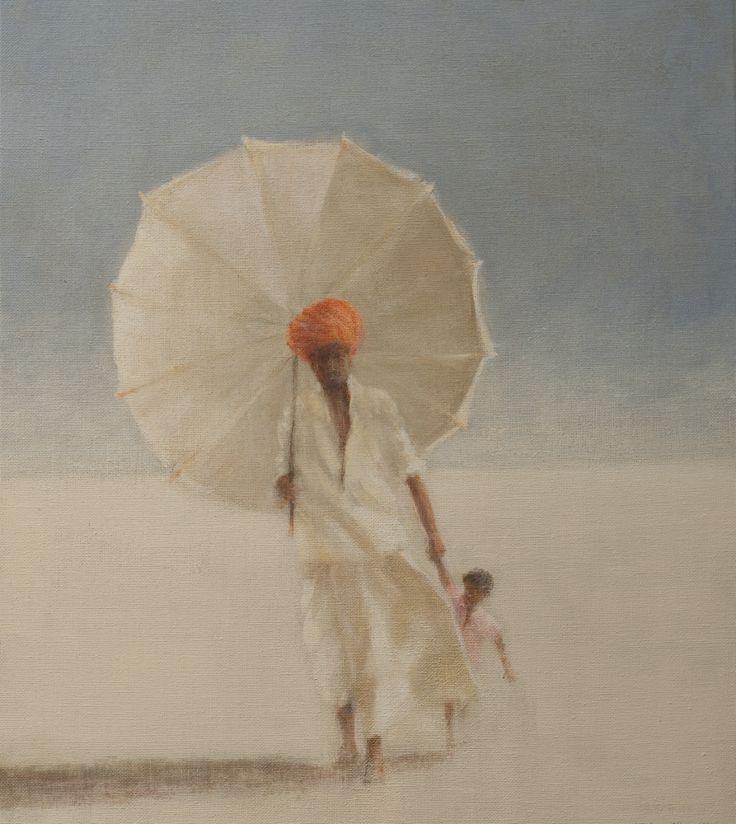 Lincoln Seligman   'Man & Child'   Acrylic on Board