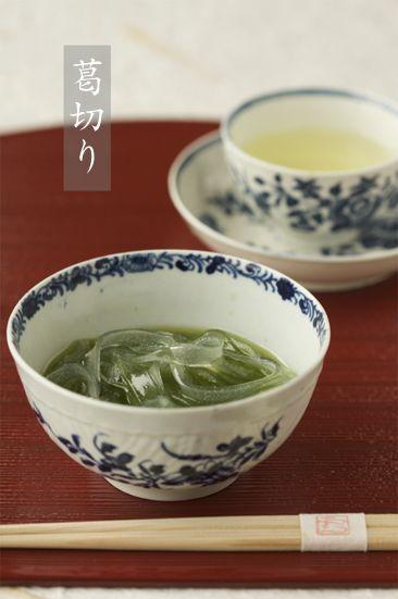 葛切り / Kuzu-kiri w green tea
