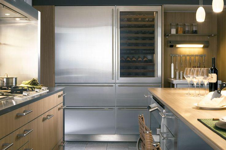 Love the fridge + wine fridge + drawer freezers.