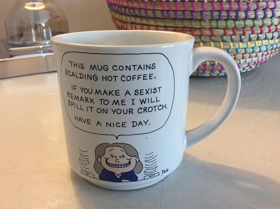 VIntage  mug Dale mug made in Japan. Workplace mug sexism