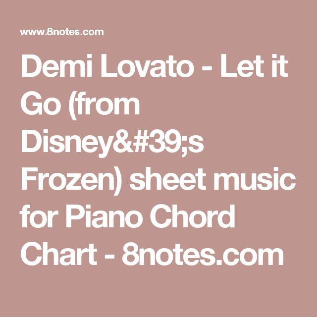Demi Lovato Let It Go From Disneys Frozen Sheet Music For Piano