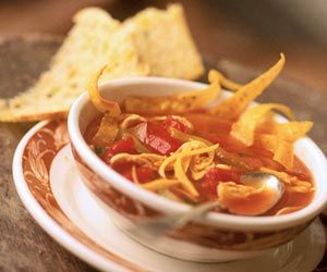 Mexican Chicken-Tortilla Soup. You know I am adding avocado. I wonder how this compares to my normal way of making it. Hmm. To try.