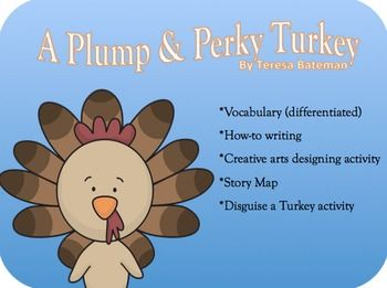 """HOLIDAY: Thanksgiving-""""Plump and Perky Turkey"""" Acvitivites ..."""