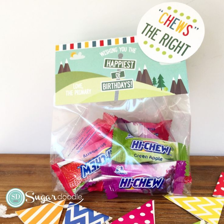 LDS Primary 2017 - Choose the Right - Treat bag toppers - Birthday gift ideas with Hi-Chews!