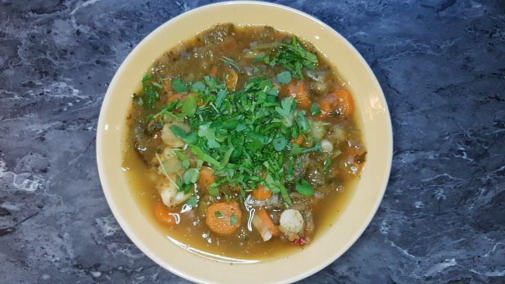 Day 5 - zupa marchew, pietruszka, seler, por, ogórek kiszony, pieprz ziolowy, nać pietruszki i rukiew wodna