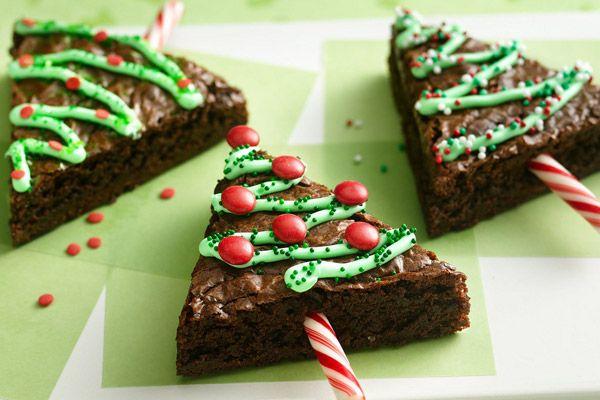 Des petits sapins de Noël sympas façon gâteau au chocolat. Miam !