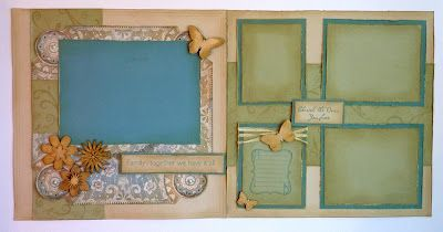 CTMH - part of Pam Thorn's 12 page Florentine Workshop.  I love the blues and greens in this layout!