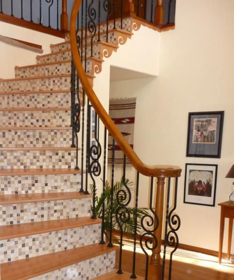 28 Best Stairway Decorating Ideas And Designs For 2020: 53 Best Images About STAIR RISER