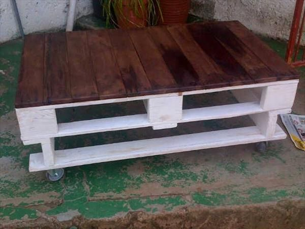 White Pallet Coffee Table 630 best pallets tables - mesas de palets images on pinterest