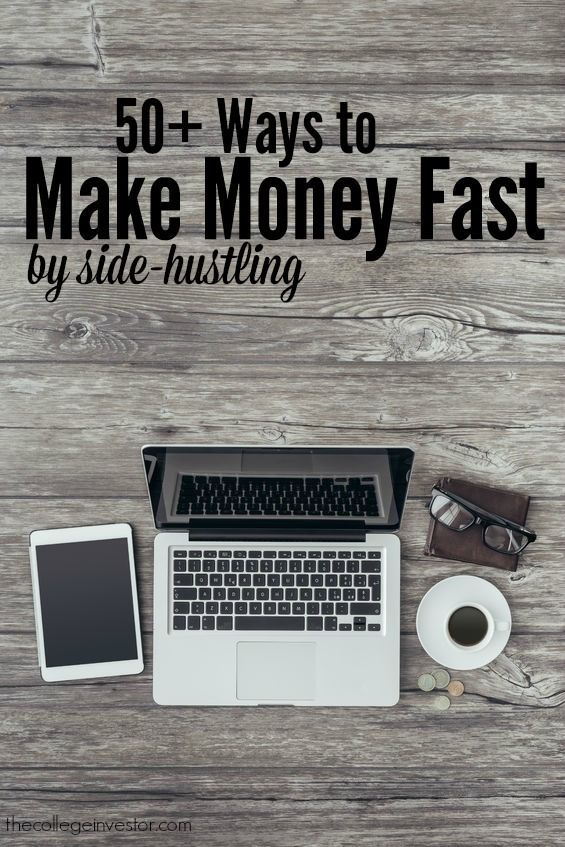 A list of side hustles and interesting jobs that you can use to earn extra money fast to pay down debt or start investing in your future.