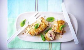 Roulades de poulet au jambon cru