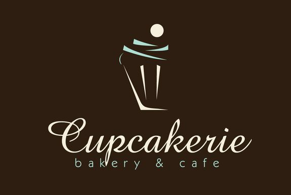I love the mix of elegant and modern font for the name.  And then the simple lines to give the cupcake shape... fantabulous.