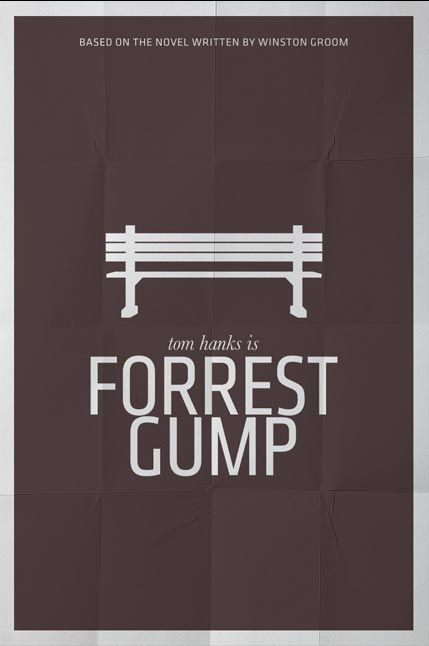 forest gump minimal poster