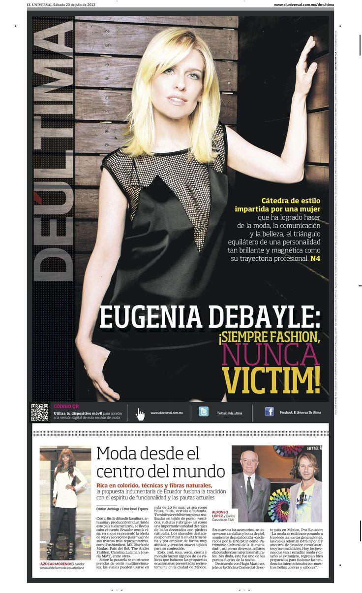 El Universal Eugenia Debayle