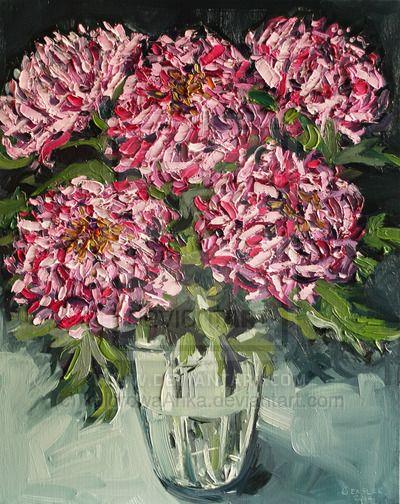 Chrysanthemums by kolorowaAnka.deviantart.com on @deviantART