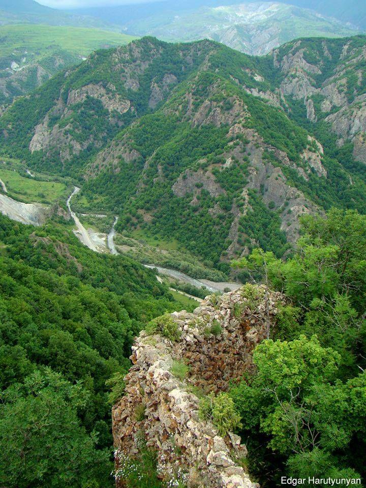 Breathtaking view from Handaberd, Artsakh