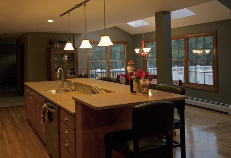Kitchen island with sink and raised eating area kitchen Kitchen island with sink and seating