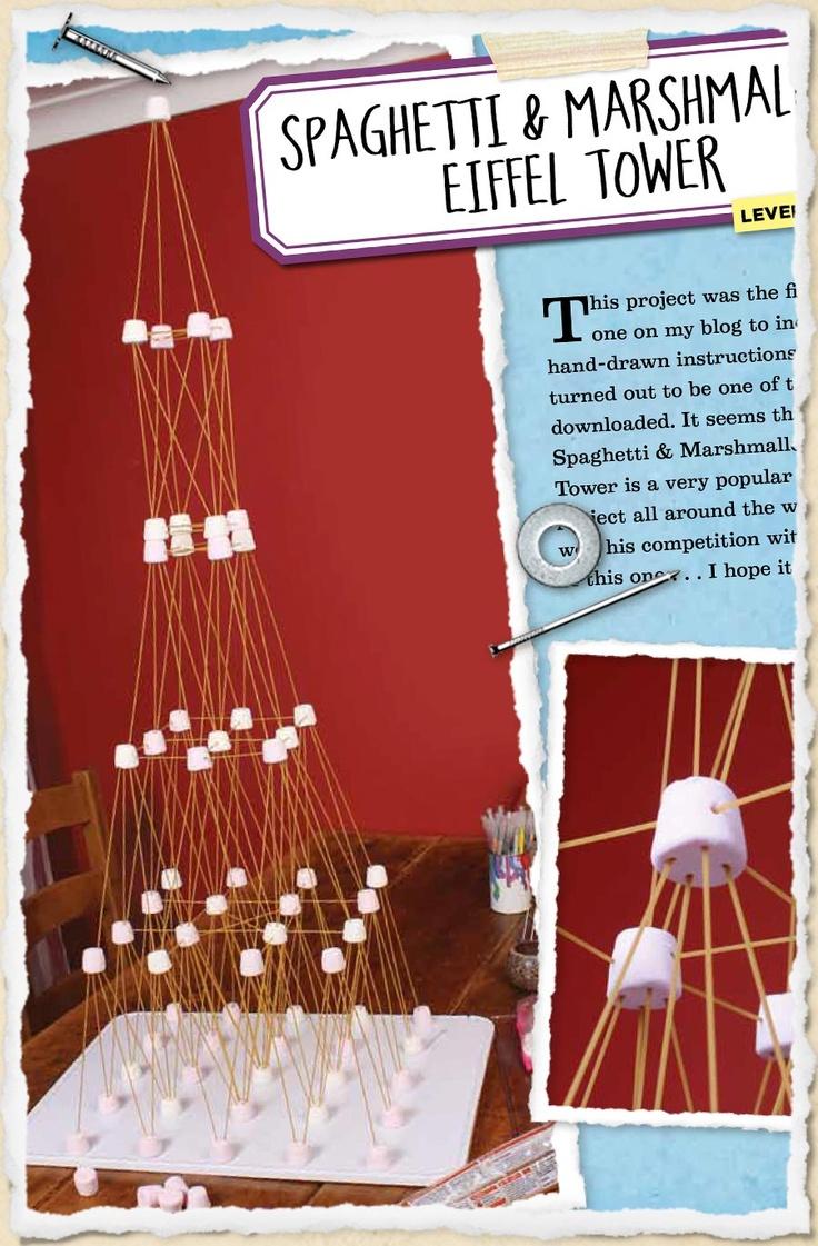Sneak peek 19: Spaghetti & marshmallow Eiffel Tower