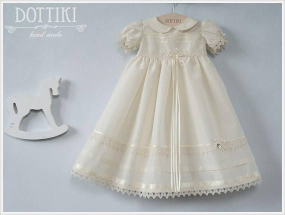 Christening  Baptism Silk Dress  Baptism Gown Christening