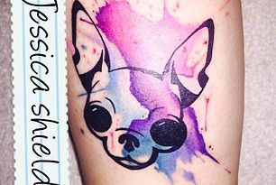 My new chihuahua tattoo!