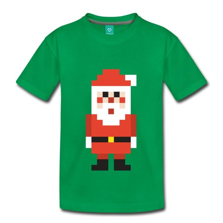 8-bit Pixel Santa t-shirt - https://www.spreadshirt.com/8-bit+pixel+santa+claus+kids+shirts-A107486257