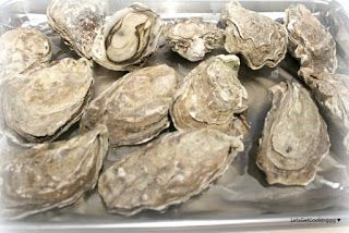 Oysters in the oven
