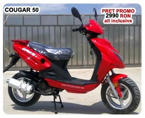 Scuter Cougar 50, motor 50 cc, 4 timpi, se conduce fara permis. Promotie alarma   + pornire telecomanda! http://www.scutere.net/scuter_cougar_model.php