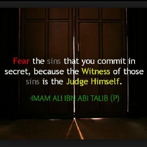 Fear the sins