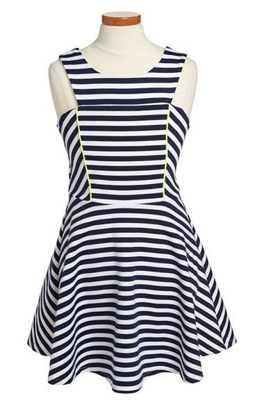 Sally Miller 'The West Palm' Stripe Dress (Big Girls) available at #Nordstrom