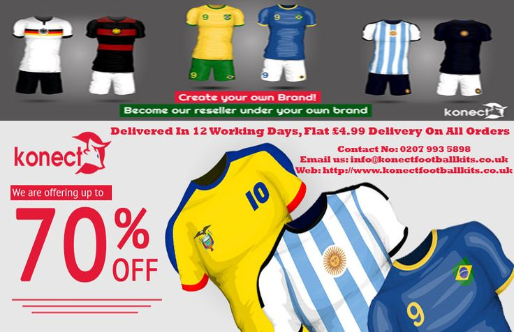 Get up to 70% Discount on Football Kits with us.