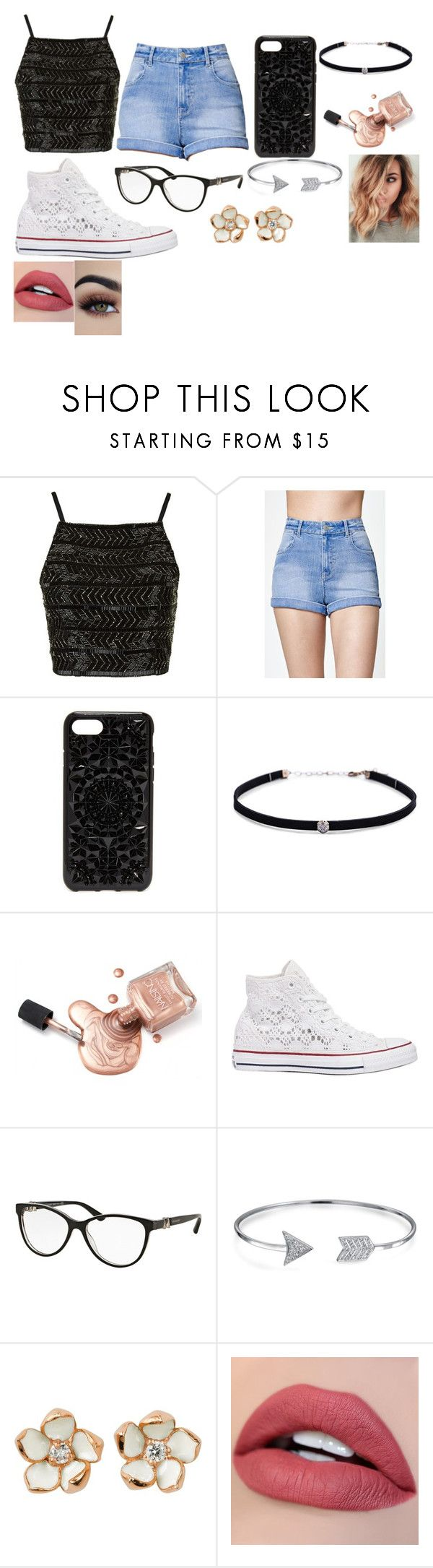"""""""Casual Summer"""" by abbytherose ❤ liked on Polyvore featuring Topshop, Kendall + Kylie, Felony Case, Carbon & Hyde, Converse, Bulgari, Bling Jewelry and Shaun Leane"""