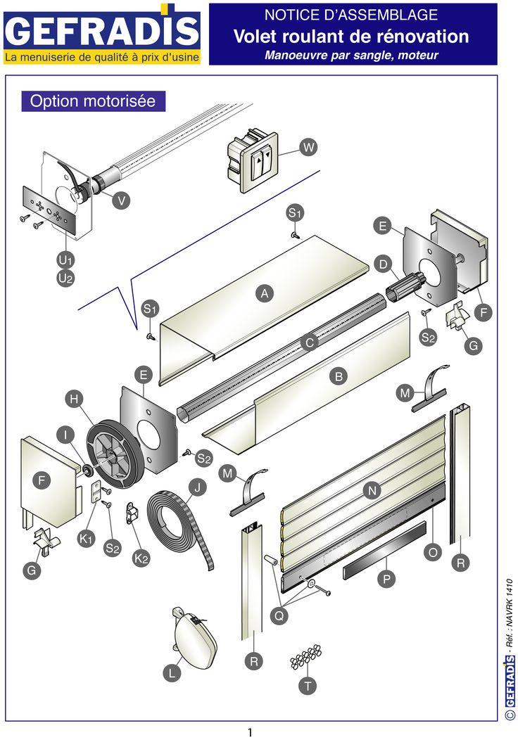 Page 1. Cette notice vous explique comment poser votre volet roulant en kit vous-même.  Prix d'usine sur Gefradis.fr.
