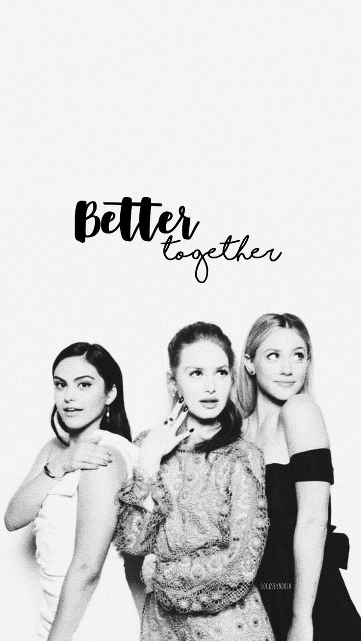 Camila Mendes, Madelaine Petsch and Lili Reinhart iPhone Wallpaper 🖤 – #Camil…