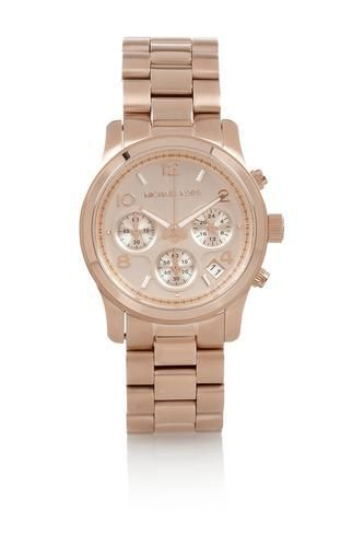 Rose gold-tone watch #watch #covetme #michaelkors