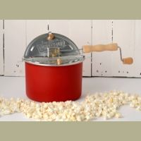 Whirley-Pop Stovetop Popcorn Popper with Metal Gears - Home Again Red