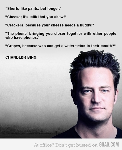 i love him: Friends Best, Bing Advertising, Giggles Quotes, Advertising Expert, Fricken Funny, Chandler Bing, Advertising Pitch, Can'T Stop Laughing, Friends Quotes