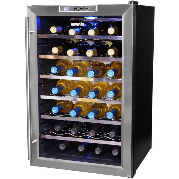 NewAir 28 Bottle Single Zone Freestanding Wine Refrigerator & Reviews | Wayfair