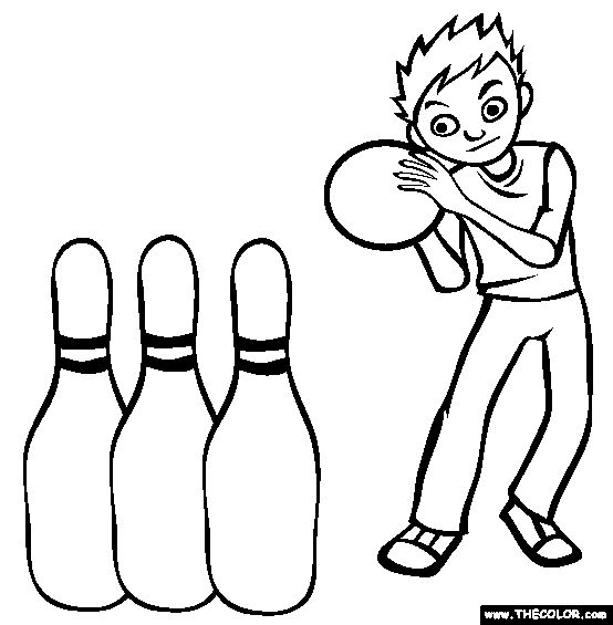Bowling Coloring Page | Free Bowling Online Coloring | Kids Party ...