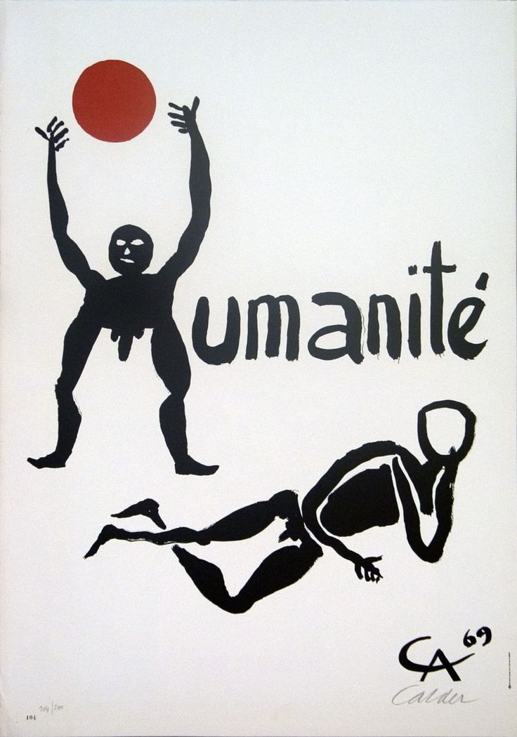 Title: Humanite. Artist: Alexander Calder. Medium: Lithograph. The edition number is also ink stamped in the lower left hand corner, in addition to the hand numbering. Published by Paris Province Impressions.Created to advertise the 1969 F�te de l'Humanit� or Festival of Humanity, a fundraiser and festival to celebrate the French Communist newspaper L'Humanit�. | eBay!