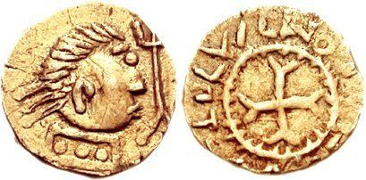 AS16 An Anglo-Saxon Gold Thrymsa from the Crondall Period,…   Flickr