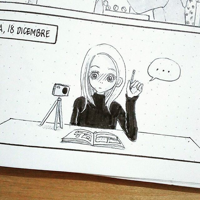 Recording my first Draw With Me Video  would you like to see how I draw one of my Comic Bullet Journal page?