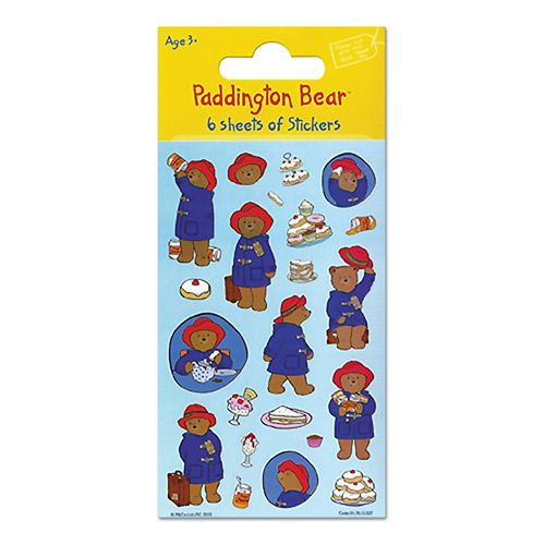 A set of six sheets of stickers which makes them perfect for Paddington Bear party bags.