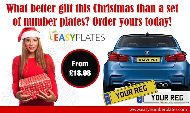 Make this Christmas even more special... Buy any car number plates and receive free screws and sticky pads. Hurry limited time only!