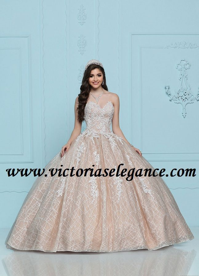 87410d7801d Quince Royale Sequined Lace Ball Gown 41274
