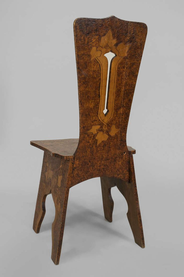 Rare original beech stained chair by eugene gaillard circa 1900 at - Belgian Arts Crafts Incised Pine Side Chair