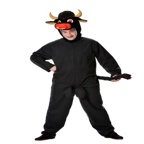 DisfracesMimo, disfraz de toro negro para hombre talla xl. Compra tu disfraz barato adulto para tu grupo. Este traje es ideal para tus fiestas temáticas de toros y animales .fabricacion nacional