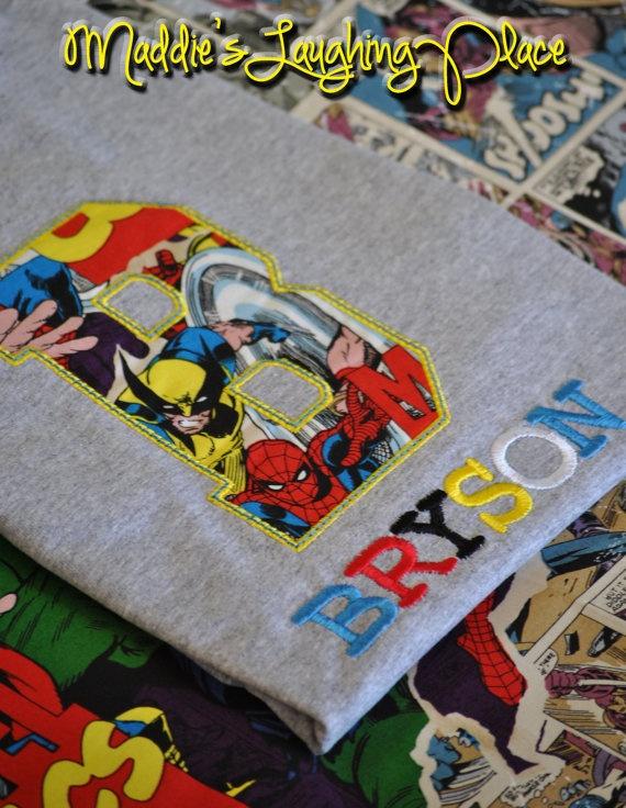 Custom embroidered little boys disney marvel avengers for Hulk fishing shirts