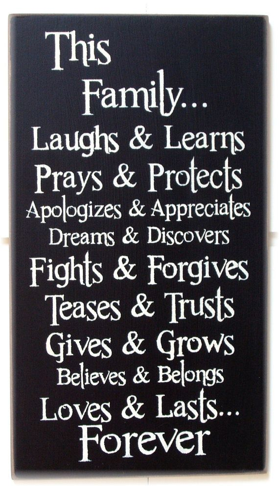 This Family... laughs and learns prays and by woodsignsbypatti, $30.00