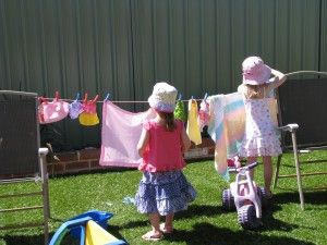 Imaginative play Ideas - Wet Washing Hanging on the Line